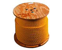 Twisted Yellow Polypropylene Ropes (Three Stand)
