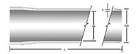 Interference Joint Tubular Size (ID) Straight Conduits